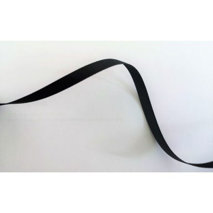 Fekete ripsz szalag 6 mm széles