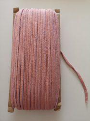 Egészségügyi gumipertli 4 mm széles - narancs - halvány lila