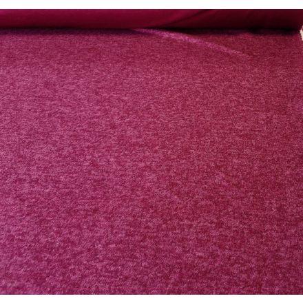 Mályva színű rózsa mintás jaquard textil - 160 cm