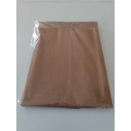 Barna színű pamutvászon lepedő 180x220 cm.