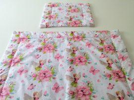 2 részes ovis ágynemű szett kislányoknak 90x130 cm - tündéres