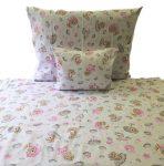 Szürke alapon színes pillangós ágynemű huzat szett