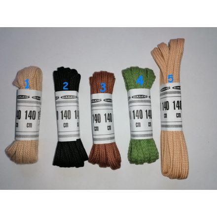Lapos cipőfűzők több színben 140 cm hosszúak