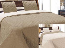 Kétoldalas ágytakaró szett capuccino - ekrü színű 220x240 cm