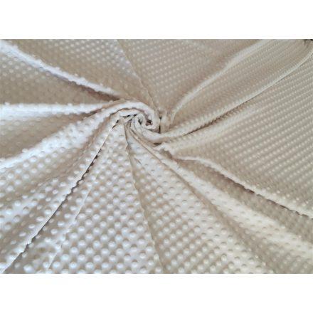 Elefántcsont (Ivory) színű minky textil 165 cm széles 350gr/m2