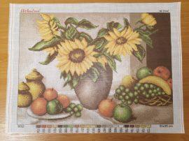 53x39 cm - es napraforgós - gyümölcsös mintás gobelin