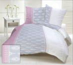 Fehér alapon színes tavaszi virágos 3 részes ágynemű huzat