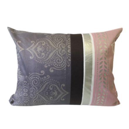 Vékony nyári paplan 140x220 cm - szürke - élénk zöld pillangó mintás