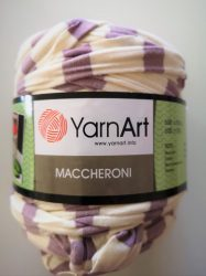 Yarn Art spagetti - póló fonal - halvány lila - krém csíkos