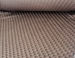 Minky textil - méteráru 160 cm széles - barna színű 350 gr/m2