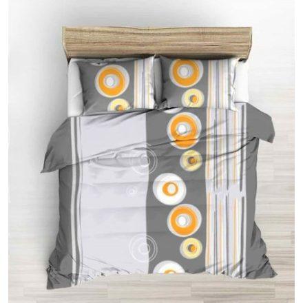 Krepp 3 részes ágynemű huzat szett - szürke virágos 140x220 cm