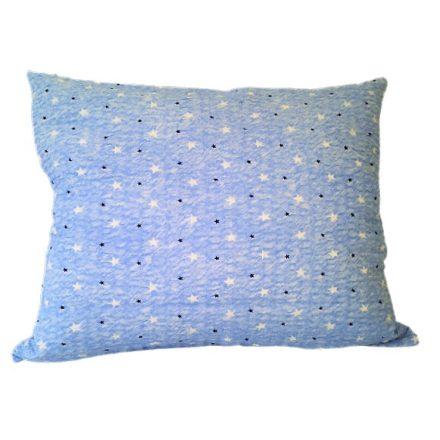 Krepp nagypárna huzat baba kék csillagos  - 70x90