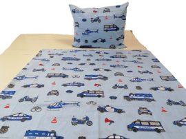 Kék rendőrös gyermek ágynemű huzat 90x130 cm