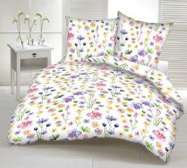 Krepp ágynemű huzat garnitúra - színes virág mintás