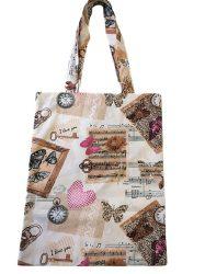Szürke-kék bagoly mintás textil