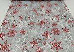 Szarvas mintás karácsonyi textil.