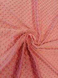 Minky textil - méteráru 165 cm széles - málna fagyi színű
