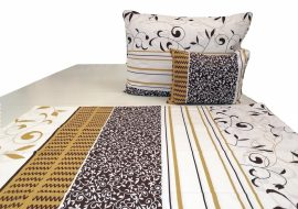 Duplafalas vastag futter textil 170 cm - fekete HIBÁS