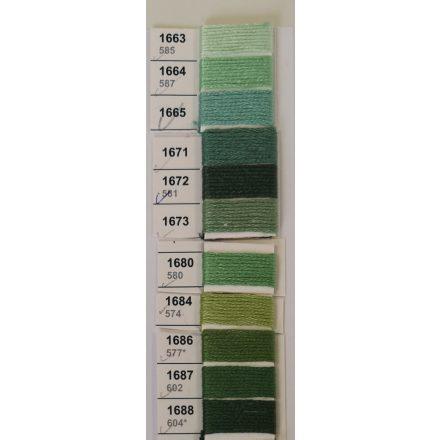 Zöld árnyalatú ariadna hímzőcérna 8 gr.