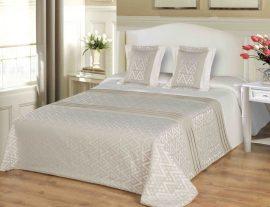 Pasztell elegáns ágytakaró szett 200x220 cm.