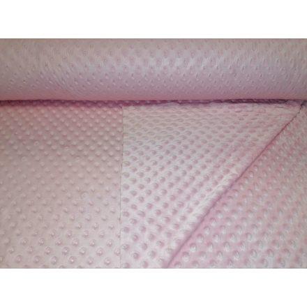 Minky textil - méteráru 160 cm széles - púder rózsaszín 350 gr/m2