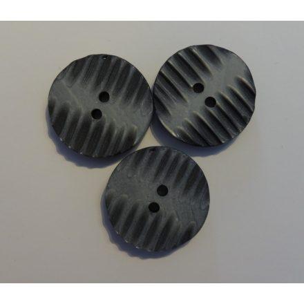Műanyag gomb, két lyukú, szürke színű ¤ 23 mm