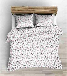 Valódi krepp ágynemű huzat 140x200 cm gyönyörű kék - fehér csillagos
