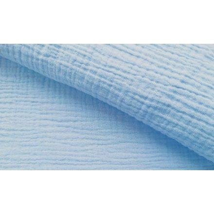 Lurex szállal átszőtt elasztikus textil - szüke - kék mintás