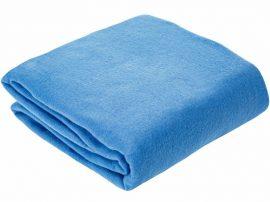 Világoskék selyem - szatén textil 140 cm széles