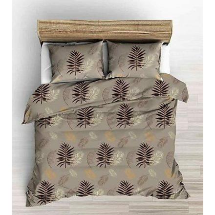 Krepp 3 részes ágynemű huzat 140x200 cm szürke - kék modern mintás