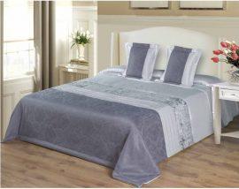 Exkluzív szürke ágytakaró szett 200x220 cm