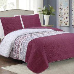 3 részes ágytakaró 220x240 cm gyöngyház fehér színben