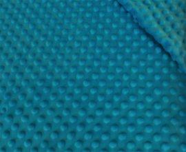 Minky textil - méteráru 160 cm széles türkiz