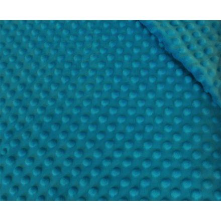 Minky textil - méteráru 350 gr/m2 160 cm széles - sötét türkiz