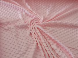 Minky textil - méteráru 160 cm világos rózsaszín