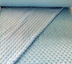 Világoskék minky textil 160 cm széles