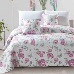 Steppelt 3 részes ágytakaró szett 220x240 cm - pink rózsás