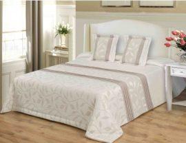 Pezsgőszínű ágytakaró szett 200x220 cm méretben