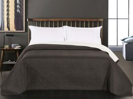 Fekete - fehér 220x240 cm ágytakaró - steppelt mintával