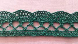 Zöld színű pamut szalag