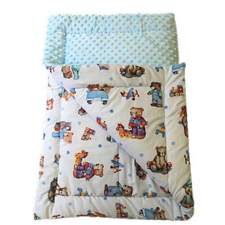 Kétoldalas pihe-puha baba takaró- baba kék - Kisherceg