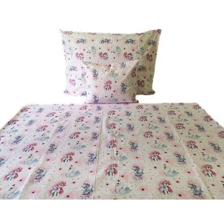 Kék - fehér - fekete focis ágynemű huzat szett 140x200 cm