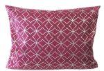 100% pamut kispárna huzat kék, sárga és szürke virágos