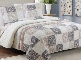 Steppelt 3 részes ágytakaró szett 220x240 cm - patchwork mintával