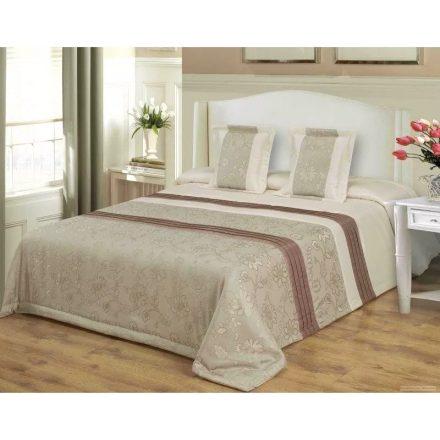 3 részes ágytakaró szett 200x220 cm elegáns barna virágos.