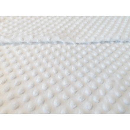 Fehér minky textil - méteráru 160 cm széles