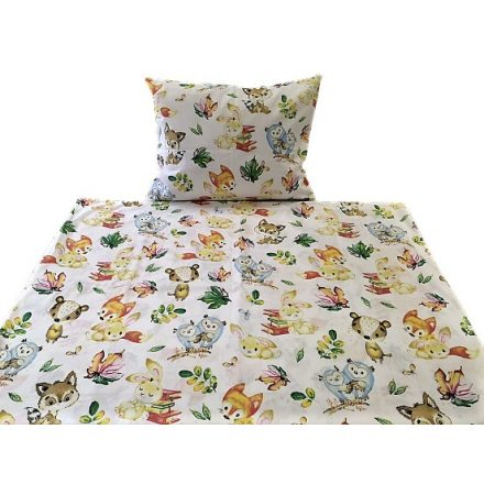 Flamingós 100% pamut 2 részes ovis ágynemű huzat