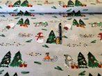 Levendula csokor mintás pamut textil  - méteráru