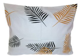 Szürke alapon piros - fehér - fekete csíkos nagypárna huzat