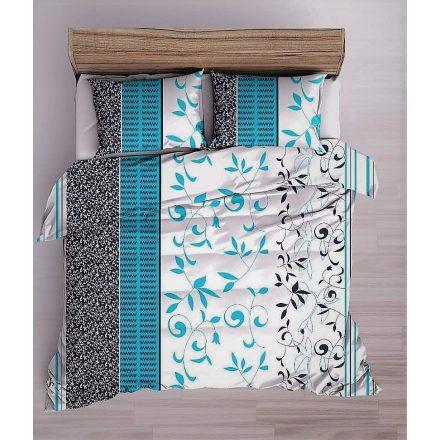 Narancssárga mákvirág mintás flanel ágynemű huzat szett